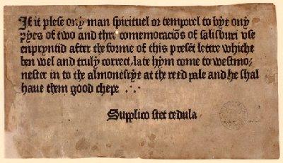 První tištěná reklama – copywriting z roku 1477